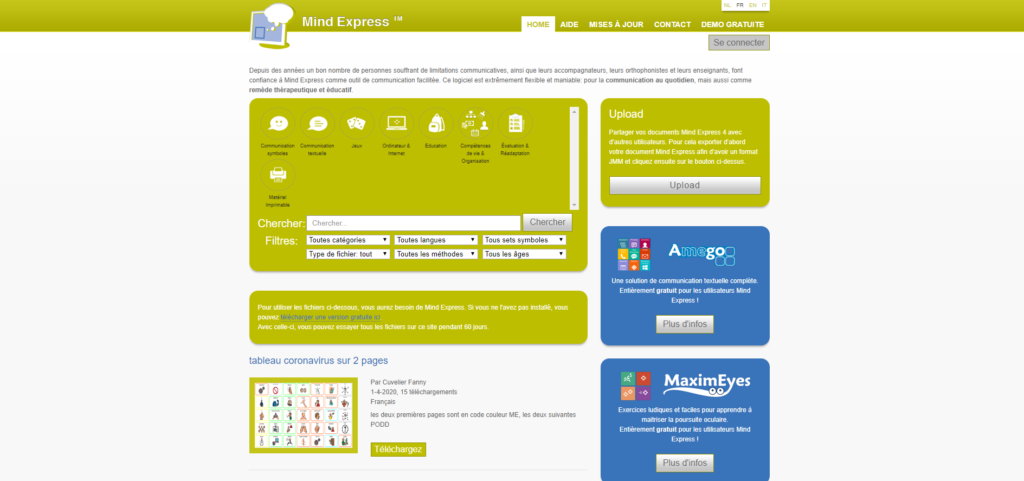 Le site Mind Express
