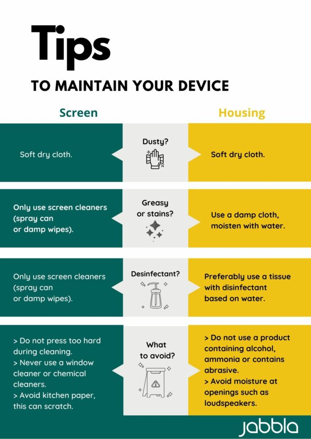 Tips to maintain your device